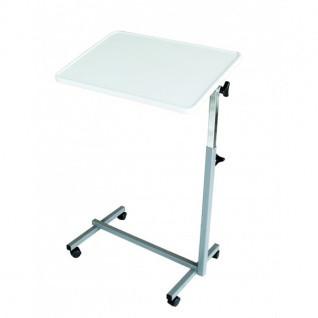 Bett-Tisch Easy Grau Weiss Betttisch Beistelltisch Bett-Tisch kippbar