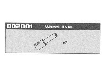 BD2001 Wheel Axle Raptor