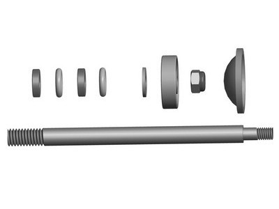 057509 Shock Shaft Set Front