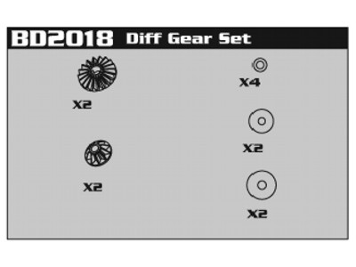 Diff Gear Set Am8E