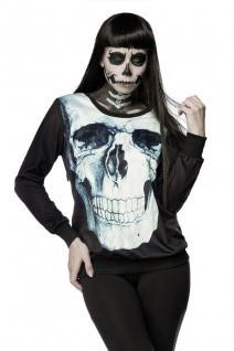 Totenkopf Sweatshirt mit elastische Rippbündchen an Arm- und Saumabschluss