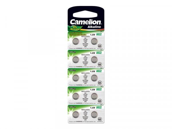 Batterie Camelion Alkaline AG2 0% Mercury/Hg (10 St.)