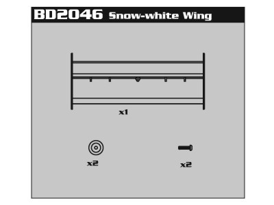 BD2046 Snow-white Rear Wing