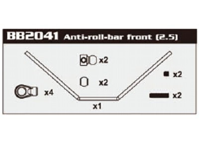 BB2041 Anti-roll-bar Front