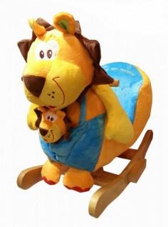 Schaukellöwe *SUPERKIMBA* mit Baby Schaukeltier - Schaukelpferd