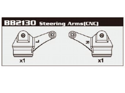 BB2130 7075 Steering Arms (CNC)