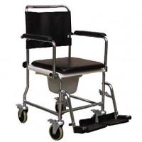 Toilettenstuhl Fahrbar Toiletteneime Rollstuhl Rück-Fuß-Arm abneh. oder klap.