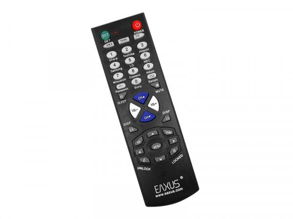 EAXUS Universal TV Fernbedienung Steuerung von bis zu 10 Geräten (schwarz)