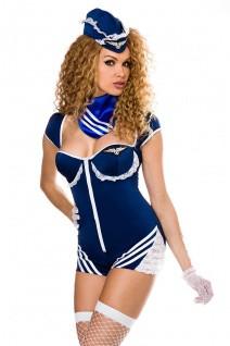 Retro Stewardess-Kostüm Set von Saresia roleplay