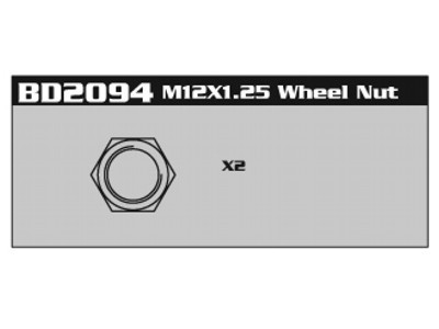 BD2094 M12*1.25 Wheel Nut