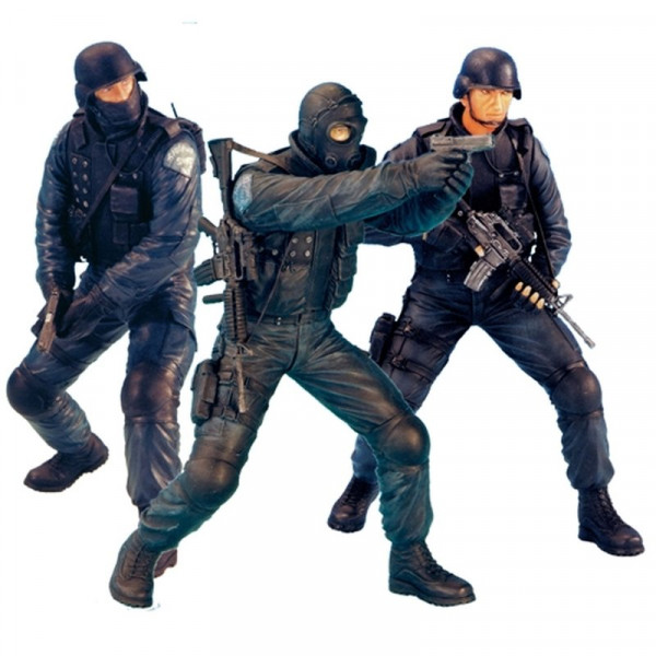 1/16 Figurenbausatz SWAT Team Set